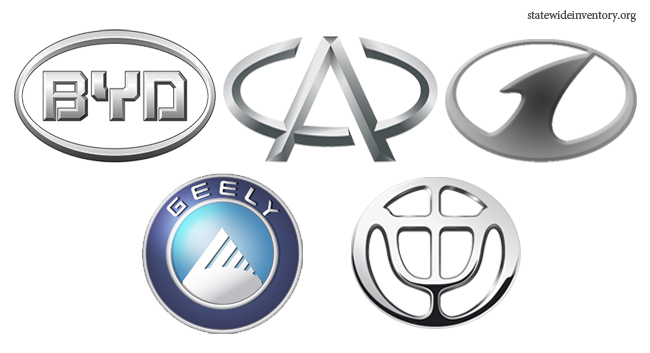 Chinese Car Brands Companies And Manufacturers Statewide Auto Sales